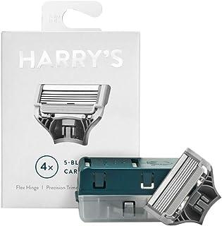 4-Pack Harry's German 5-Blade CARTRIDGES Razor Refills Precision Trimmer Flex HI