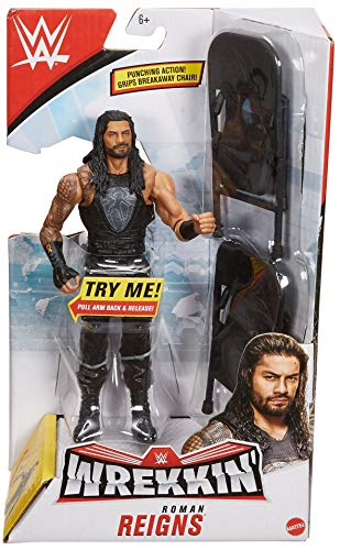 WWE Wrekkin' 6-inch Action Figure with Wreckable Accessory, Roman Reigns
