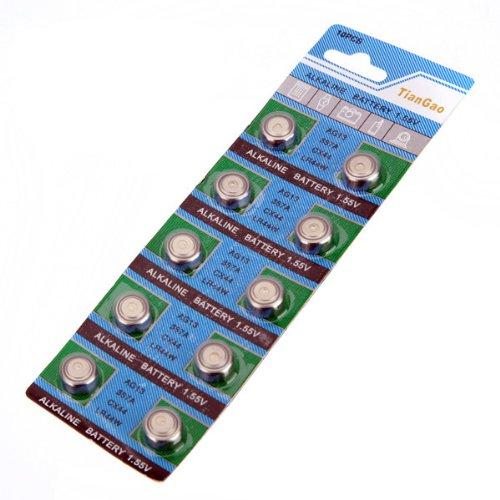 10 x AG13 LR44 G13-A D303 L1154 L1154F Alkaline Button Cell Battery Pile