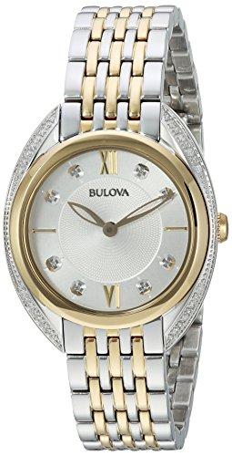 Bulova 98R229 Damen-Armbanduhr, Quarz, Edelstahl, zweifarbig