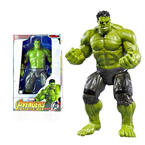 Wuhuayu Action Figures MCU - Action Figure Hulk, 35,6 Cm (14 Pollici), 13 Articolazioni Mobili, Figura da Collezione Ufficialmente Autorizzata Marvel China(Color:Hulk)