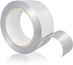 Tape-King Zelfklevend aluminium plakband [50 mm x 50 m] I hittebestendig aluminium plakband om af te dichten I Alutape, Al...