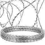 VEVOR Razor Wires, 147ft Razor Barbed Wire 3...