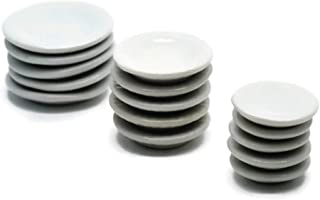30 Mix White Cearmic Plate Dish Bowl Dollhouse Miniatures Food Kitchen No 71 by Cool Price
