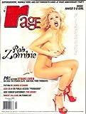 RAGE Adult Men's Magazine, October 1997, Rob Zombie, Fishbone, Naked 3-D Girl
