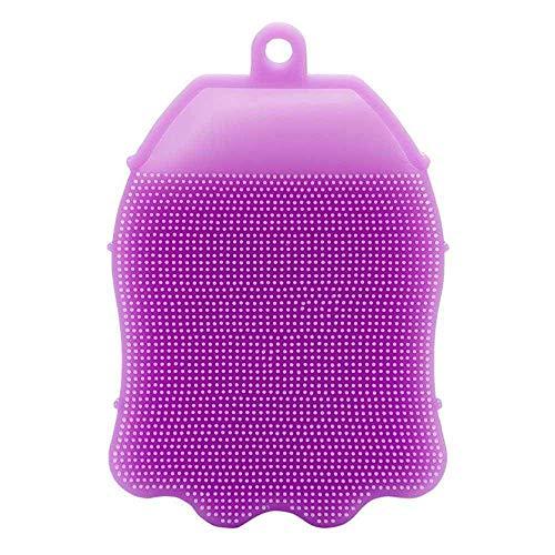 SGMSC Silicone Bath Brush Body Scrubber Bath Glove Anti Cellulite Shower Brush Scrub for Baby (Multi-Colored : Pack of 1)