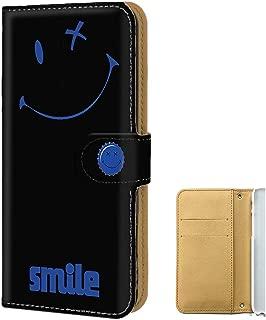PU手帳型 カードタイプ AQUOS ZETA SH-01H 【ペケポン:ブルー】 スマイル スマホケース 携帯カバー [FFANY] pekepon-190955m