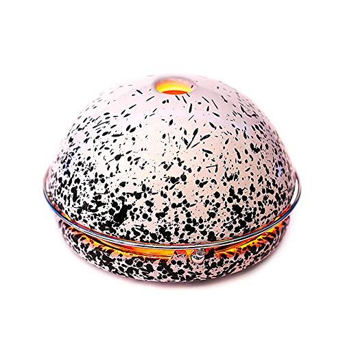 Egloo Multifunctioneel product met mobiele verwarming, aroma-diffuser, luchtbevochtiger, luchtreiniger, lantaarn en accessoiredecoratie voor tuin, yoga, kantoor, bruiloft, balkon, woonkamer Zwart gespoten