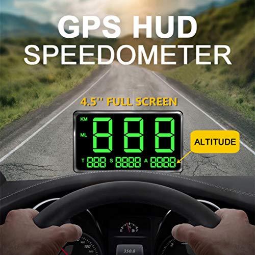 YSHtanj GPS HUD Velocímetro Alarma Sistemas & Monitor de Seguridad Pantalla de...