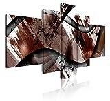 Dekoarte 413 - Cuadro moderno en lienzo de 5 piezas, estilo abstracto con texturas,...