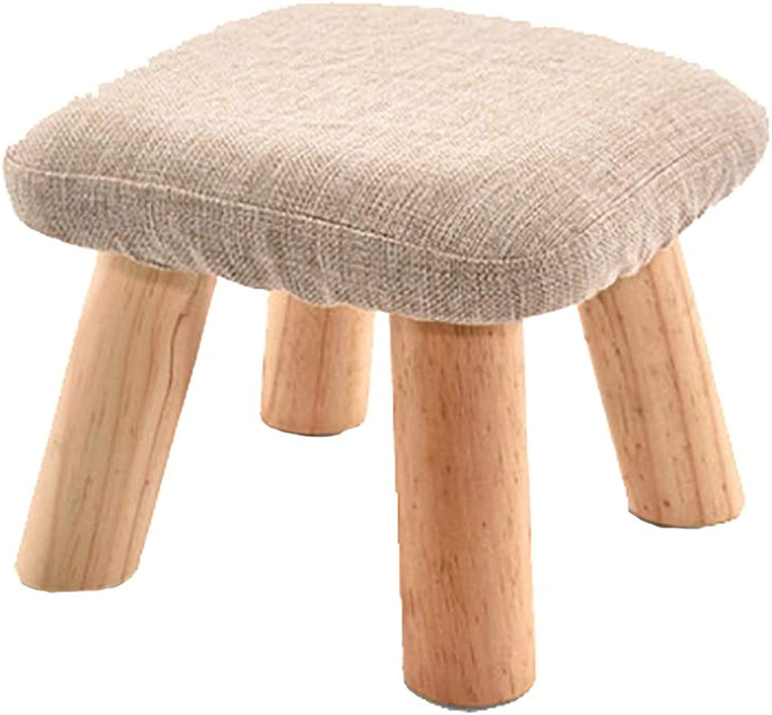 ZHILIAN& Square Solid Wood Stool Simple Fashion Home Multi-Function shoes Bench Sofa Bench Footstool 28x28x21cm (color   A)