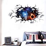 3D Cosmic Planet Kitchen Wall Decor Outer Space Planet Galaxy Kids Room Decor Universe Scene with Planets Art Wall Murals Decor for Home Walls Floor Ceiling Boys Room Kids Bedroom
