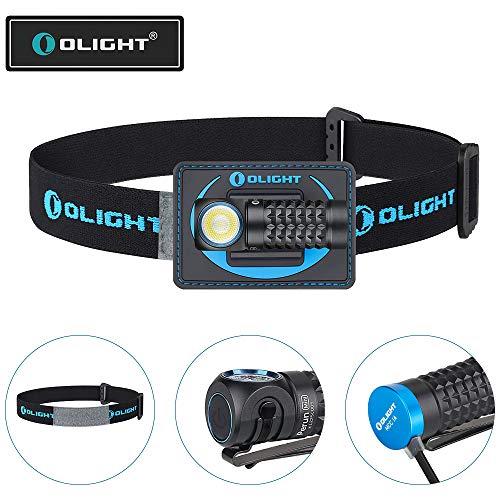 OLIGHT Perun Mini LED Stirnlampe 1000 Lumen, USB aufladbare Kopflampe mit 100 m Leuchtweite, 5 Leuchtstufen, 60° Verstellbar, Perfekt fürs Laufen, Joggen, Angeln, Campen, für Kinder und mehr