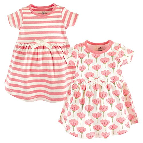 Touched by Nature Girls' Organic Cotton Short-Sleeve Dresses, Tulip, 12-18 Months