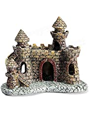 Fish Tank Aquarium Castle House Ornament Decorations Aquatic Caves Hide Shelter for Small Fish Shrimp
