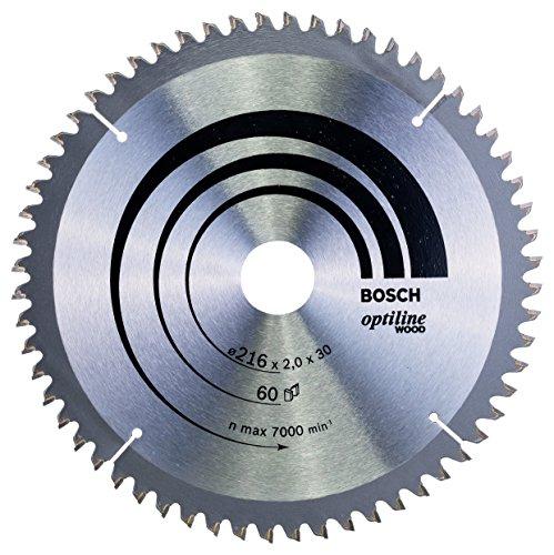 Bosch Professional Kreissägeblatt Optiline Wood (für Holz, 216 x 30 x 2 mm, 60 Zähne, Zubehör Kreissäge)
