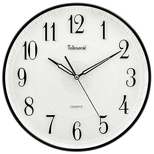AWYST Relojes Salon Reloj de Dormitorio Vivo Simple,Reloj de Pared Relieve Dimensional Digital Creativo,Alta Permeabilidad antifogging Cristal Espejo Circular Cuarzo Silencio Barrido Reloj Cocina