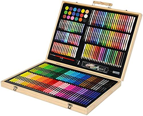 YONGJUN Kinder Pinsel Malerei Sets Lernbedarf Malwerkzeuge Kinder Aquarell Stift Kunst Schreibwaren (UnitCount   251-pack)