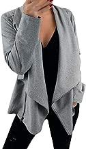 iHHAPY Casual Biker Jacket Women Zipper Jacket Long Sleeve Cardigan Casual Blazer Jacket Work Office Coat Top Jackets