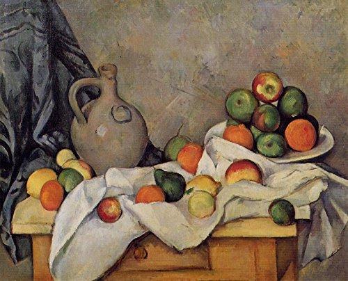 Het Museum Outlet - Stilleven met Kan, Gordijn en Fruit, 1893-94, Stretched Canvas Gallery verpakt. 16 x 20 cm.