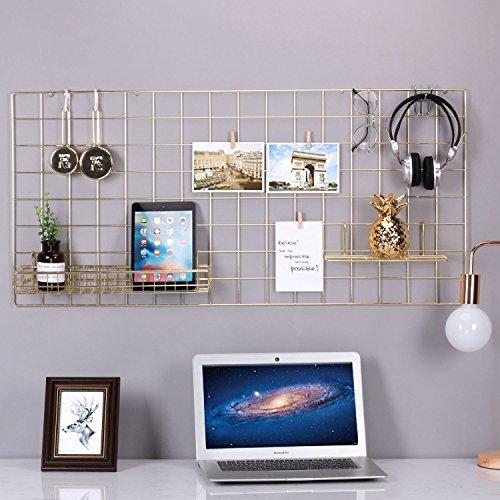 25,6 pollici x 17,7 pollici Nero Saiko Grid Wall Panel Confezione da 2 Wire Photography Grid Wall Hanging Picture Multi-Functional Wall Art Display Organizer per la conservazione