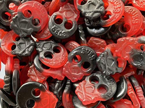 Guilty Candy Store – 1kg Suikervrije Drop Frambozen Skulls