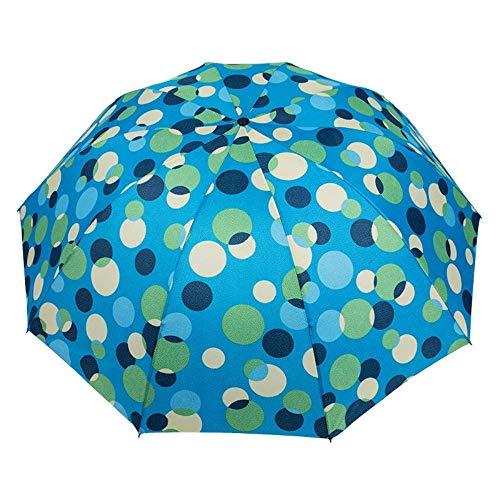 YNHNI Paraguas plegable ultravioleta resistente al viento, protección solar, tela de impacto personalidad, moda lluvia y sol, sombrilla paraguas, portátil (color: azul lago)