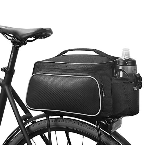 Bicycle Luggage Rack, Rear Seat Luggage Bag, Bicycle Cargo Bag, 3 Reflective Belts,Suitable for Most Mountain/Road Bikes