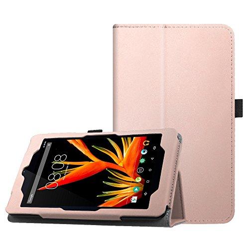 Fintie Hülle für Alldaymall 7 Zoll Tablet - Premium Kunstleder Schutzhülle Tasche Folio Cover mit Stylus-Halterung für Alldaymall A88T Pro 7 Zoll FHD Android Tablet (Roségold)