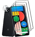 QITAYO für Google Pixel 4a(5G) Panzerglas Schutzfolie + Kamera Panzerglas, Panzerglas Kameraschutz für Google Pixel 4a(5G) [nicht für Google Pixel 4a](3+2 Stück)