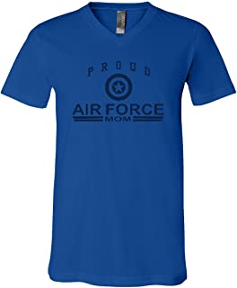 Proud Air Force Mom V-Neck T-Shirt Air Force Military Tee