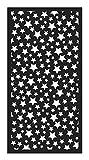 Panorama Alfombra Vinílica Estrellas Color Negro 140 x 200cm - Alfombra Cocina Vinilo - Alfombra Salón Antideslizante, Antihongos e Ignífuga - Alfombras Grandes - Alfombras PVC