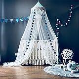 Mosquitera para cama de niños jugando/lectura, redondo malla cortinas mosquitera dosel tienda, Decoración del dormitorio, Azul