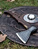 Hand forged Viking axe High carbon steel handmade hatchet axe with leather case Engraved custom axe Hunting...