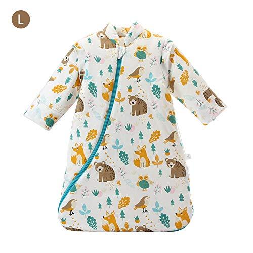 Per Saco de Dormir para Bebés de Invierno con Mangas Desmontables Pijamas para Bebés de 1-3 Años