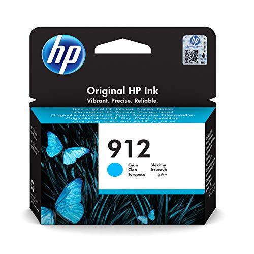 HP 912 3YL77AE, Cian, Cartucho de Tinta Original, compatible