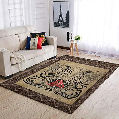 Alfombras duraderas vikingas tatuajes alfombras modernas interiores suaves – para decoración del hogar blanco 2 91 x 152 cm