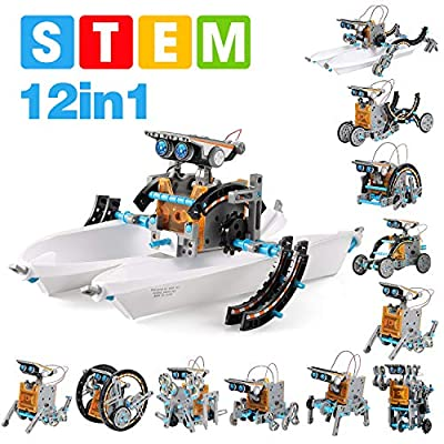 GP TOYS 12 in 1 STEM Solar Robot Kit , Educational Learning Science Building Toys for Kids Age 8+ Years Old Boys and Girls
