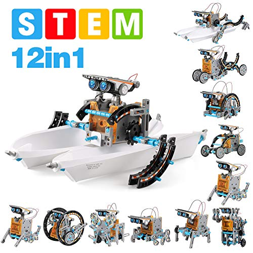 12 in 1 STEM Solar Robot Kit , Educational Learning Science Building Toys for Kids Age 8+ Years Old Boys and Girls