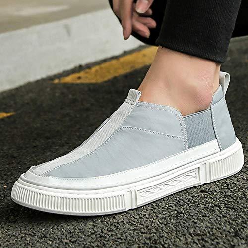 N-B Chaussures en Toile Coréenne D'été pour Hommes Chaussures À Panneau en Tissu À Coupe Basse pour Hommes Chaussures À La Mode pour Hommes Couvre-Chaussures Chaussures Décontractées