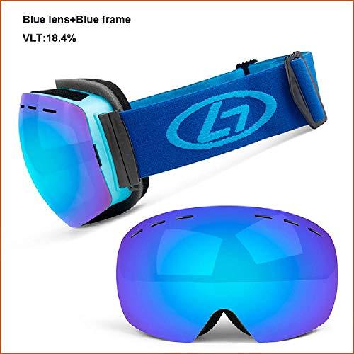 Doble Capas Gafas de Esquí UV400 Anti-Niebla Gran Máscara de Esquí Gafas de Esquí de Nieve Gafas de los Hombres de las Mujeres de Snowboard Gafas de Deportes al aire libre