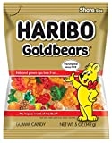 Haribo Gummi Candy, Goldbears Gummi Candy, 5 oz Bags (Pack of 12)