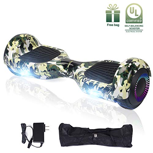 EPCTEK 6.5' Hoverboard, Two Wheel Self Balancing Hoverboard with LED Light Free Carry Bag - UL2272 Certified Hover Board for Adults Kids