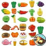 Kinder-Spielzeug Cut Obst und Gemüse Lebensmittel Küche Mini-Küche Besteck Set Spielhaus...