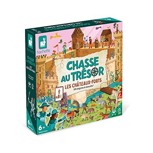 Janod - Chasse au Trésor Chevaliers et Châteaux-Forts - Jeu de Société Enfant - Jeu Collaboratif - Jeu pour la Famille - Dès 6 ans, J02447
