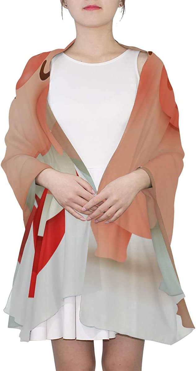 Lady Shawl Wrap Chinese New Year Pig Funny Womens Fashion Scarf Scarf For Boys Lightweight Print Scarves Shawl Wrap Outdoor Scarf