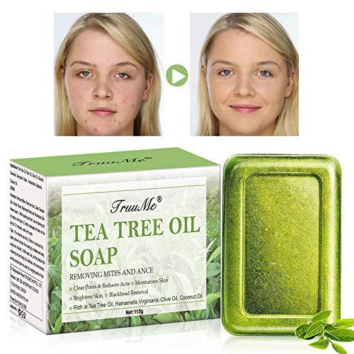 Tea Tree Oil Soap, Acne Soap, Facial Soap, Natural Soap Cleanse Face & Body, Anti Acne/Anti Blackhead/Anti Pimple & Pore Cleaner, for Men/Women All Skin Type