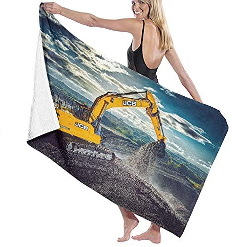 Toalla de baño de playa, diseño tribal de rayas y rombos de espiga monocromo, de secado rápido, grande, súper suave, para viajes, camping, fitness, deportes, yoga, vacaciones, 132 x 81 cm