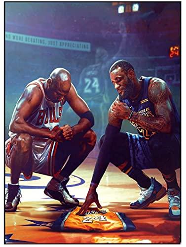 JCYMC 1000 Pezzi Jigsaw Puzzle Kobe Bryant Lebron James Nba Basket Star Poster Adulti Bambini Giocattolo Di Legno Gioco Educativo Yp41Vq