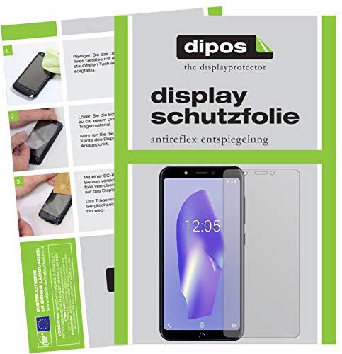 dipos I 2X Schutzfolie matt kompatibel mit BQ Aquaris C Folie Bildschirmschutzfolie